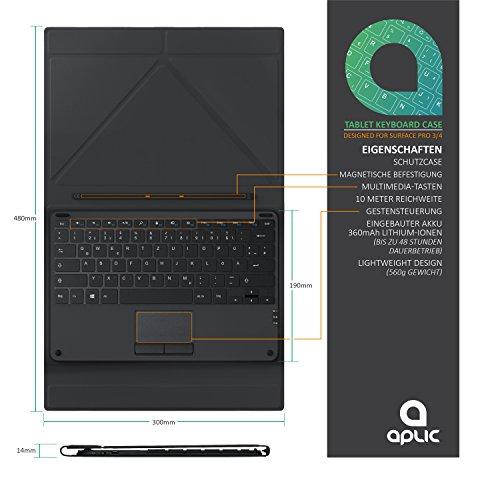 csl computer tastatur f rs microsoft surface pro tablet. Black Bedroom Furniture Sets. Home Design Ideas